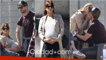 Celeste Cid, embarazada de 8 meses y enamorada de Michel Noher. Foto: Movilpress