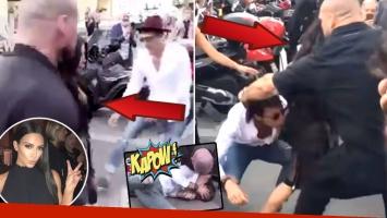 ¡Tremendo! El video del momento en que un acosador ataca e intenta besarle la cola a Kim Kardashian en París. (Foto: captura)