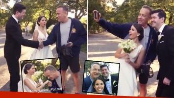 El divertido video de Tom Hanks irrumpiendo en las fotos de boda de una pareja en Central Park. (Foto: captura de video)