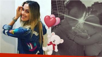Chechu Bonelli compartió en Instagram la primera imagen de su hija a 9 meses de su nacimiento. Foto: Instagram