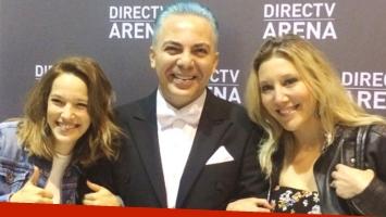 Luisana y Daniela Lopilato, en el recital de Cristian Castro. Foto: Instagram