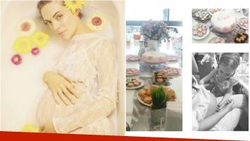 El baby shower sorpresa de Emilia Attias, a pocos días de la llegada de su hija Gina: