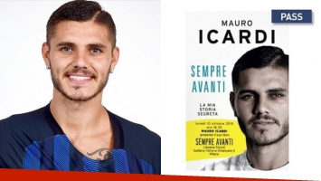 Mauro Icardi reveló la tapa de su biografía, Siempre para adelante