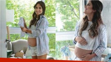 La tierna producción de Lourdes Sánchez, embarazada de 8 meses, por el Día de la Madre. Foto: Gente