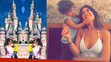 Jimena Barón con Morrison en Disney. Fotos: Instagram.