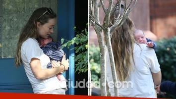 Olivia Wilde, paseos matinales con su beba recién nacida en las calles de Los Ángeles. (Foto: Grosby Group)