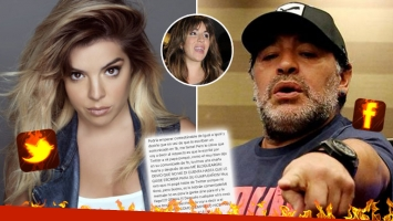 ¡Dolor de hija! Dalma le respondió a Diego con un picante texto en Twitter. (Foto: Web)