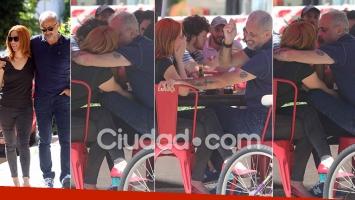 Jorge Rial y Agustina Kämpfer en un mediodía de amor. Foto: Movilpress