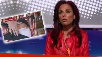 El doloroso accidente de Iliana Calabró. (Foto: Web)