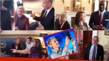 ¡Lo hizo otra vez! Ellen DeGeneres hizo un Mannequin Challenge en la Casa Blanca con súper estrellas. Foto: Captura
