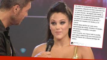 Barbie Vélez renunció al Bailando a través de Twitter. (Foto: captura TV y Twitter)
