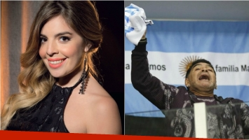 El guiño de Dalma Maradona a Diego a la distancia. Foto: Web