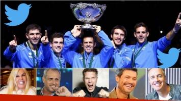 Los tweets de los famosos por el triunfo de Argentina en la Copa Davis. Foto: Web