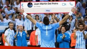 La foto de perfil del WhatsApp de Juan Martín del Potro.