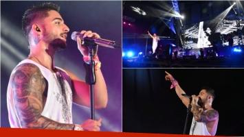 Las fotos de Maluma en Misiones en el primer recital de su gira por Argentina. Foto: CZ Comunicación