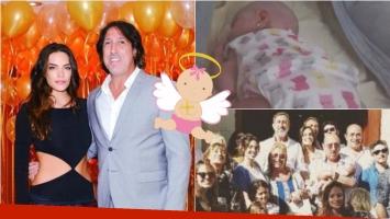 Emilia Attias y el Turco Naim bautizaron a su hija Gina a un mes y medio de su nacimiento. Foto: Instagram