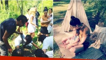 Juana Repetto plantó la placenta de su hijo en una emotiva ceremonia. Foto: Instagram