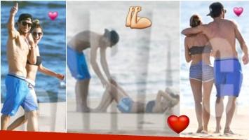 Pampita y Pico Mónaco disfrutaron del sol y la rutina de ejercicios en las playas de Punta del Este (Fotos: revista Caras)