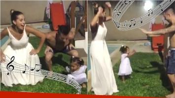 Mirá el divertido baile de Fran, la hija de Cinthia Fernández: