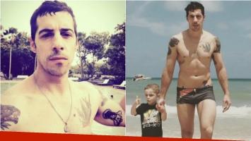 Esteban Lamothe, lomazo y sunga en las playas brasileñas. Foto; Instagram
