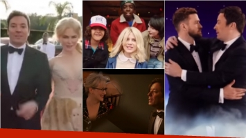 Mirá la divertida apertura de los Golden Globe 2017 con Jimmy Fallon bailando y cantando. Foto: Captura