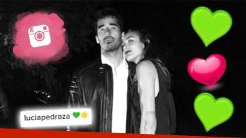Romance blanqueado… ¡con un corazón verde! Nacho Viale, muy mimoso con Lucía Pedraza en Punta del Este. (Foto: Instagram)