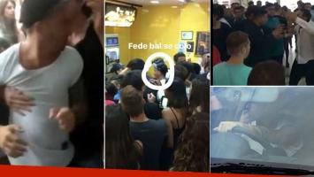 Fede Bal fue increpado por un grupo de jóvenes que lo acusaron de colarse en un Mc Donald's, y se pelearon con sus amigos.