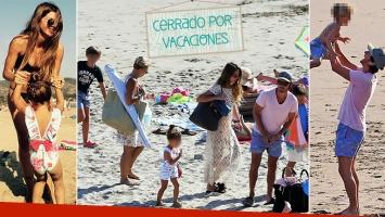 ¡Vacaciones ensambladas! China Suárez y Vicuña, junto a todos sus hijos en las playas chilenas de Cachagua. (Foto: diario Las Últimas Noticias e Instagram)