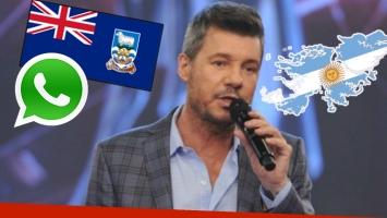 Marcelo Tinelli, enojadísimo con WhatsApp por incorporar la bandera de Reino Unido para las Malvinas. Foto: Web