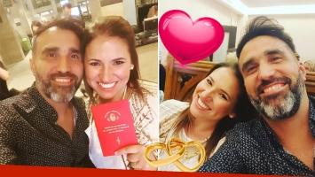 ¡Marido y mujer! Fernanda Iglesias se casó el productor Pablo Nieto. (Foto: Instagram)