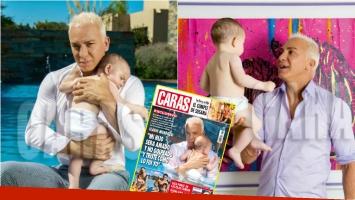 Las fotos de Flavio Mendoza junto a un bebé, tapa de Caras... ¡y su emoción por el deseo de ser padre! Foto: Revista Caras