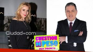 Andrea Politti, picante sobre la conducción de Doman en Cuestión de Peso. (Foto: Ciudad.com y Web)