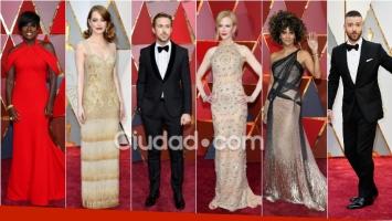 ¡Glamour y brillo en la alfombra roja! Los looks de las celebrities de Hollywood en los Premios Oscar 2017. Foto: AFP