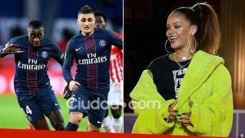 Rihanna, ¿de fiesta sexual con dos futbolistas del PSG antes de la derrota con Barcelona? (Fotos: AFP)