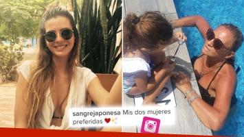¡Lo que se hereda…! China Suárez y una foto de su mamá en bikini junto a Rufina