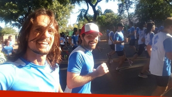Peter Lanzani y Christian Sancho corrieron los 10k de UNICEF a beneficio.