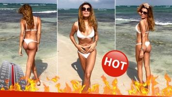 """¡Qué diosa! Flor de la Ve, una diosa en bikini en las playas de Tulum: """"En medio de un mar de amor"""""""