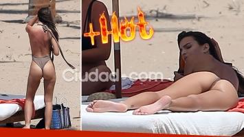 ¡Explotó el termómetro! Emily Ratajkowski derritió las playas de México con una sensual malla enteriza. (Foto: Grosby Group)