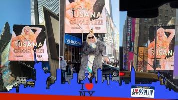 ¡Diva internacional! Susana Giménez, en las marquesinas de Times Square en Nueva York