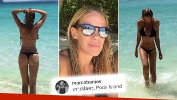 ¡Qué destape! El lomazo en colaless de Marcela Baños en las paradisíacas playas de Tailandia