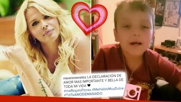 ¡Qué metejón! La tierna declaración de amor de Thiago a Nazarena Vélez: