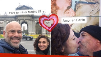 """¡De ShowMatch para el mundo! Bicho Gómez y su novia coach, romántica """"luna de miel"""" por el Viejo Continente"""