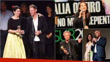 La luz incidente, la gran ganadora de los Premios Sur: Natalia Oreiro y Oscar Martínez, mejores actores. Fotos: Clarín/ Twitter