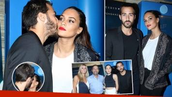 Nico Francella, mimoso y enamorado de su bella novia en la premiere de su nueva película. (Foto: Movilpress)