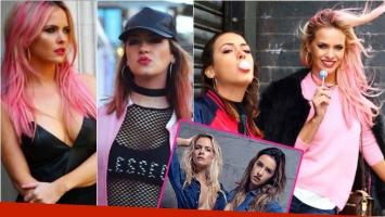 El radical cambio de look de Alejandra y Giuliana Maglietti: de viaje en Londres… ¡se animaron al pelo rosa!