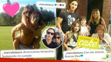 """¡Agasajada y enamorada! El festejo de cumpleaños de Marcela Tauro junto a su joven novio y su familia: """"Con mis amores"""""""