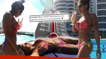 ¡Otoño al rojo vivo! Ivana Nadal subió la temperatura con una foto en bikini