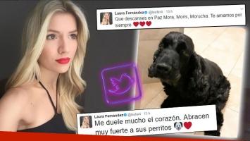 ¡Tristeza sin fin! Laurita despidió a su perrita en Twitter.