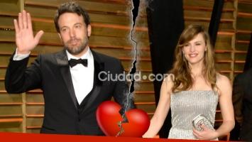 Ben Affleck y Jennifer Garner iniciaron el divorcio tras varias idas y vueltas. Foto: AFP