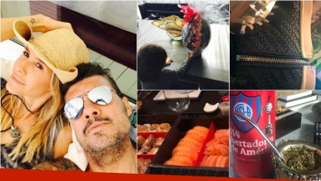 El finde de relax de Marcelo Tinelli: mates, huevo de pascua, fútbol… ¡y unas zapatillas muy particulares! Foto: Instagram